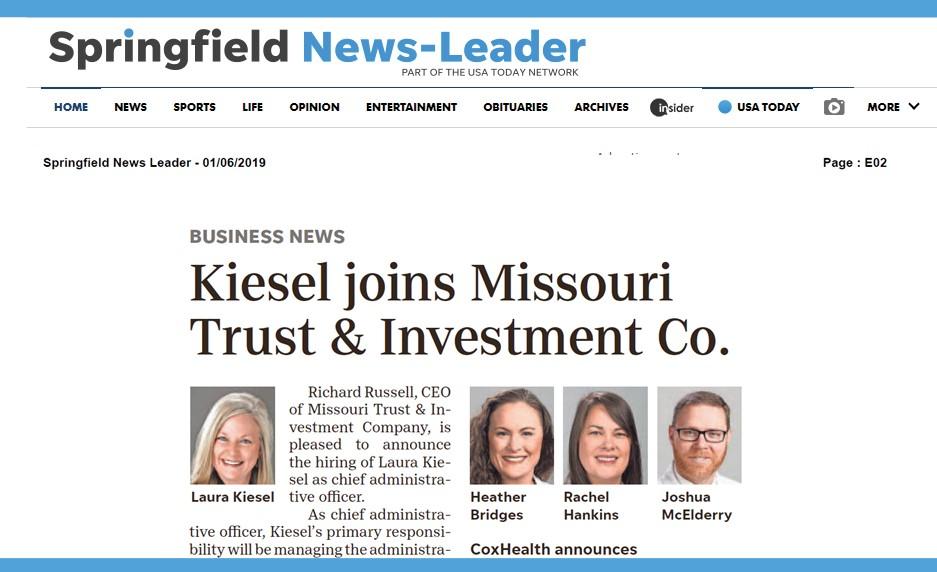Missouri Trust & Investment Company » Springfield News